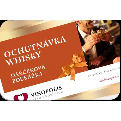 Darčeková poukážka na ochutnávku whisky