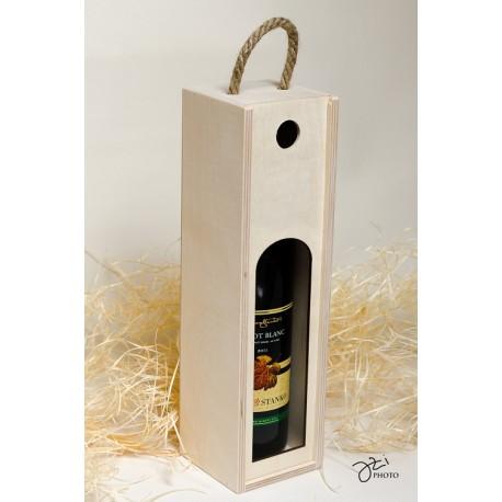 Drevená krabica na víno - 1 fľaša
