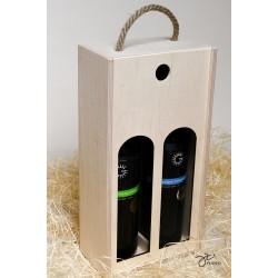 Drevená krabica na víno - 2 fľaše