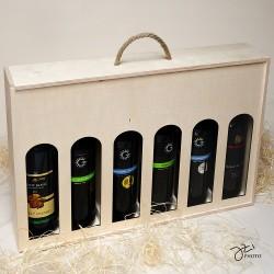 Drevená krabica na víno - 6 fľiaš