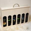 Drevená krabica na víno - 6 fliaš