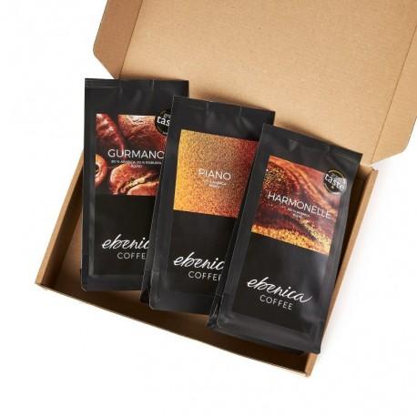 Degustačný kávový balíček - Klasické kávy, 3x70 g
