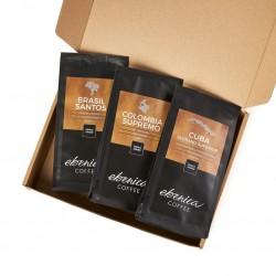 Degustačný kávový balíček - Moderné kávy, 3x70 g