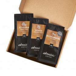 Degustačný kávový balíček - Ovocné kávy, 3x70 g