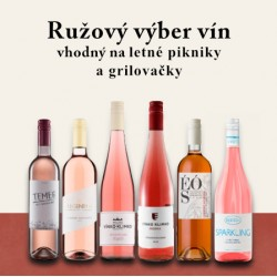 Ružová degustačná sada vín