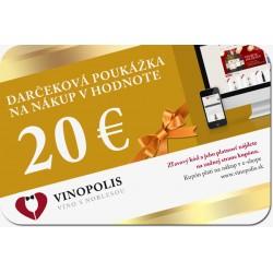 Darčeková poukážka 20 eur na nákup vína