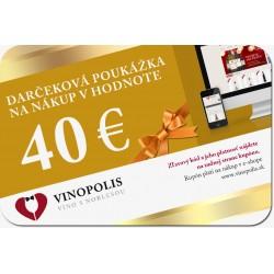 Darčeková poukážka 40 eur na nákup vína