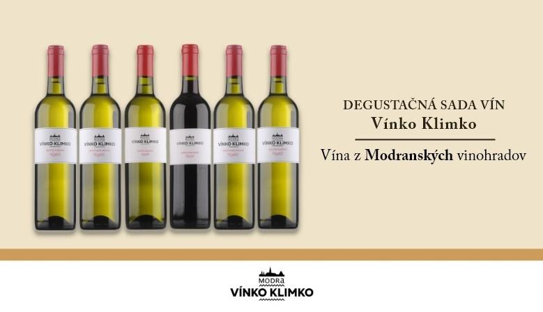 Degustačná sada vín Vínko Klimko