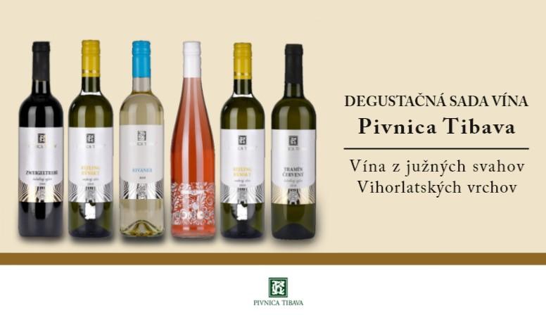 Degustačná sada vín Pivnica Tibava